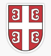 Serbian shield Sticker