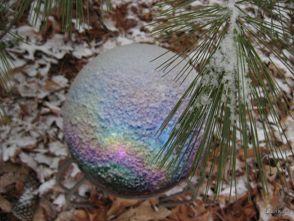 gazing ball and small snow by Laurkat