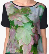 Coloured Leaves Chiffon Top