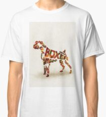 Boxer Typographic Watercolor Painting Classic T-Shirt