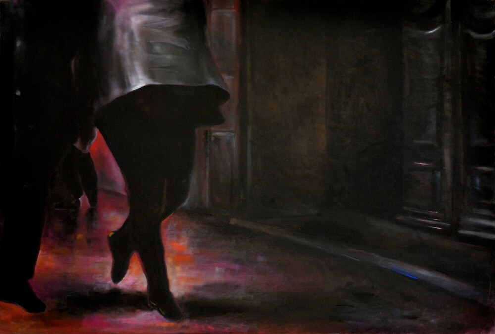 Walking on air, 2014, 120-80cm, oil on canvas by oanaunciuleanu