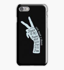 Peace sign in different languages iPhone Case/Skin