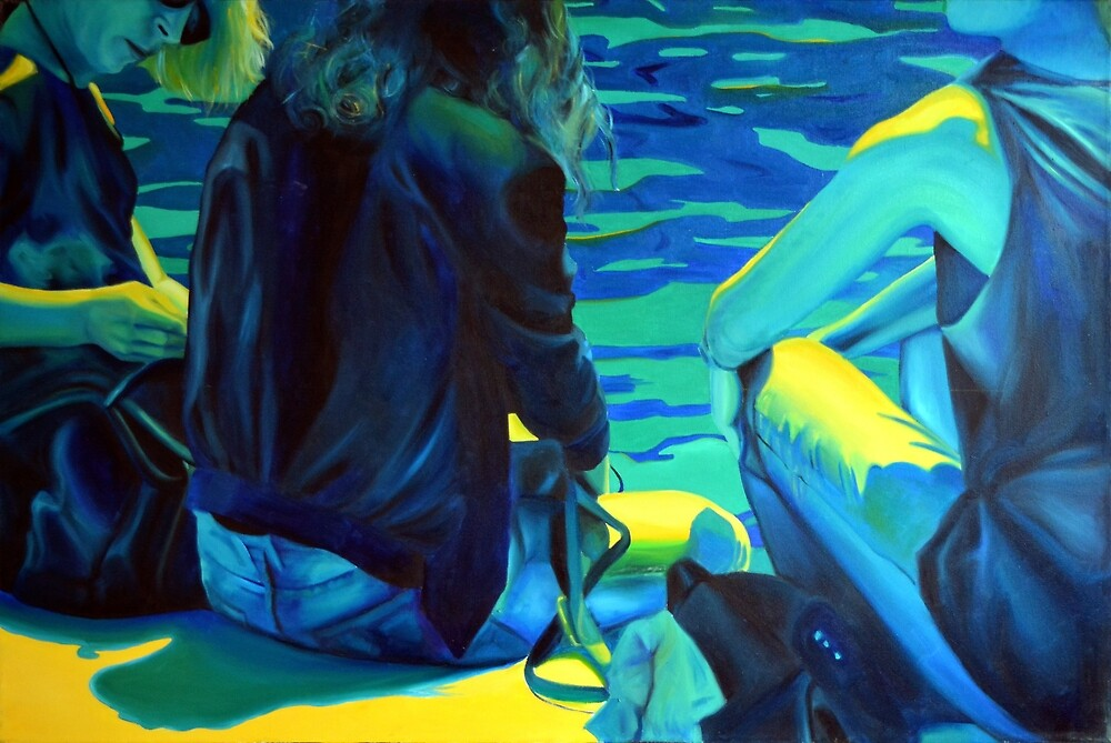 Waiting for the summer, 2014, 120-80cm, oil on canvas by oanaunciuleanu