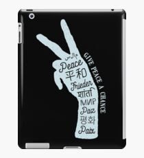 Peace sign in different languages iPad Case/Skin
