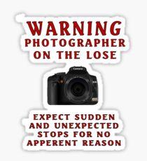 Warning Photographer Sticker
