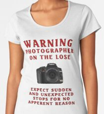 Warning Photographer Women's Premium T-Shirt