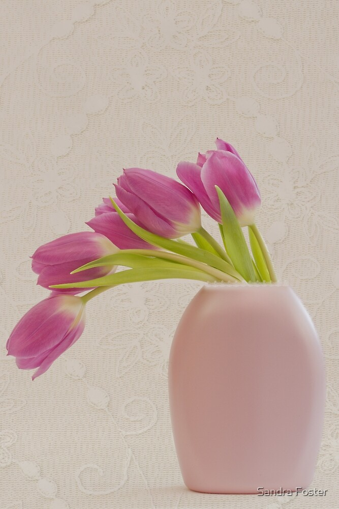 Tulips And Lace by Sandra Foster