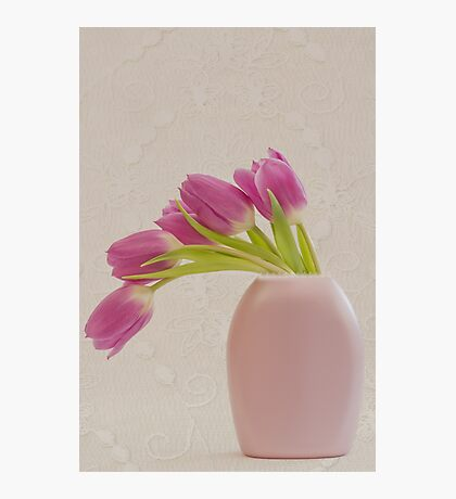 Tulips And Lace Photographic Print