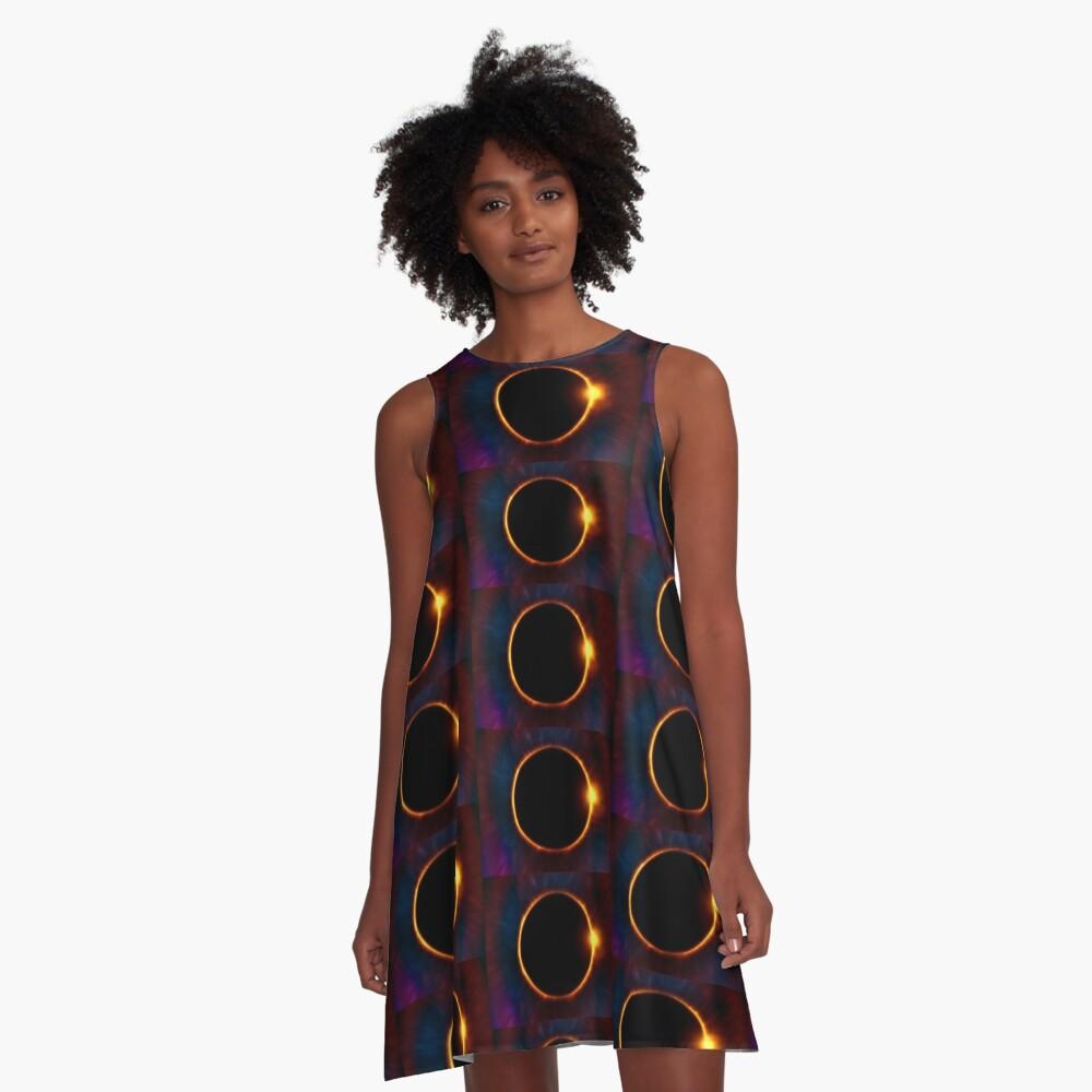 Solar Eclipse  A-Line Dress