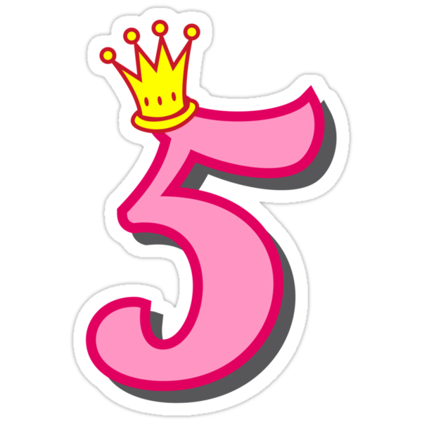 Quot 5th Birthday Princess Party Theme And Gifts Quot Stickers By