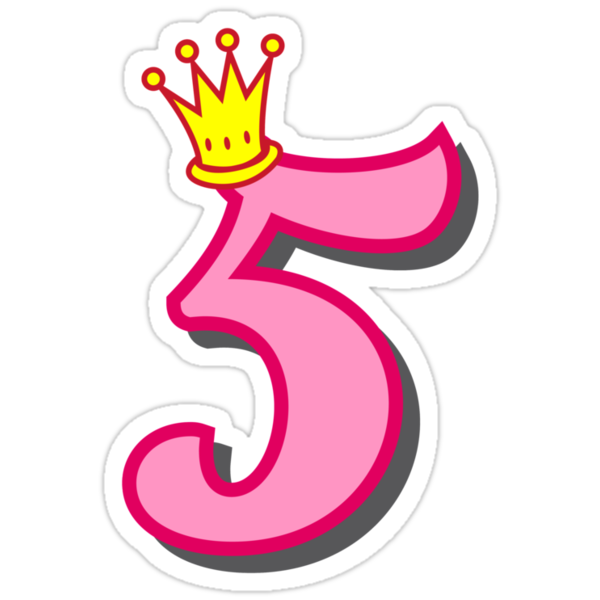 """5th birthday princess party theme and gifts"" Stickers by ..."