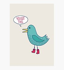 Emotional Support Duck Photographic Print