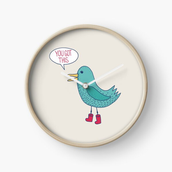 Emotional Support Duck Clock