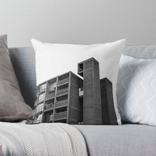 Park Hill Lift Shaft Throw Pillow