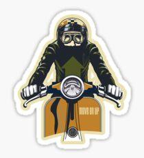 Cafe Scooter Racer Sticker