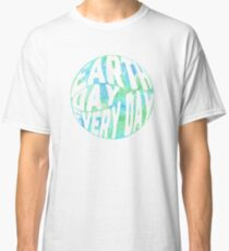 Earth Day Every Day - Watercolor Environmentalism Classic T-Shirt