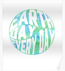 Earthlings posters redbubble earth day every day watercolor environmentalism poster m4hsunfo