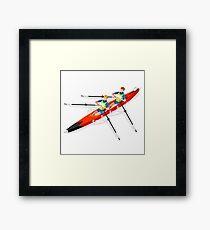 Canoe Rowing Athlete Sport Framed Print