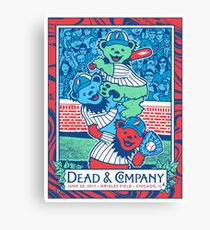 POSTER DEAD and COMPANY WRIGLEY FIELD, 30 JUNE 2017 Canvas Print