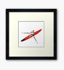 Canoe Rowing Single Athlete Sport Framed Print
