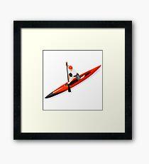 Canoe Sprint Paddler Sport Framed Print