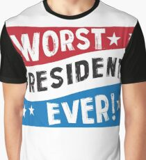 Funny President Blue Red White  Graphic T-Shirt