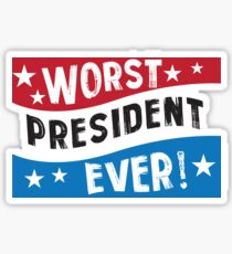 Funny President Blue Red White  Sticker
