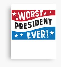Funny President Blue Red White  Canvas Print