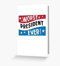 Funny President Blue Red White  Greeting Card
