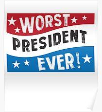 Funny President Blue Red White  Poster