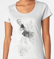 Flying Vulture/ Buitre Volando Women's Premium T-Shirt