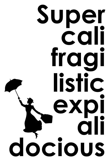mary poppins supercalifragilisticexpialidocious posters by