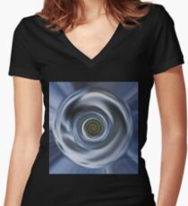 Spinning Earth  Women's Fitted V-Neck T-Shirt