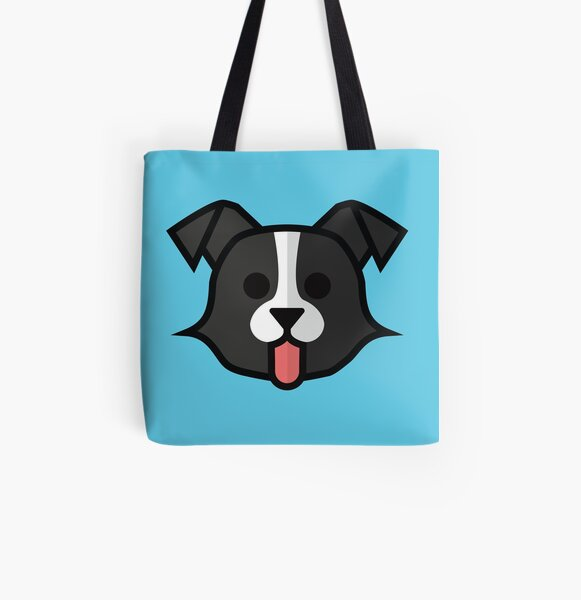 Border Collie All Over Print Tote Bag
