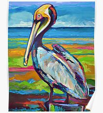 Colorful St Pete Pelican Poster