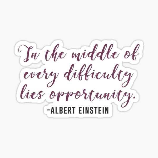 Cita de Albert Einstein Pegatina