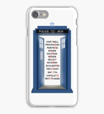 Doctor Who Doctor Names iPhone Case/Skin
