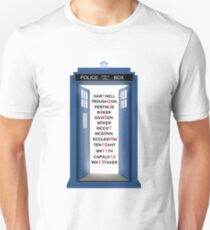 Doctor Who Doctor Names Unisex T-Shirt