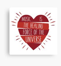 Music Healing Canvas Print