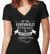 fictional characters Funny saying Typography Graphic vector vintage Women's Fitted V-Neck T-Shirt