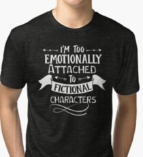 fictional characters Funny saying Typography Graphic vector vintage Tri-blend T-Shirt