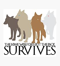 But the Pack Survives. Photographic Print