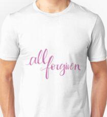 All Forgiven Pink Design T-Shirt