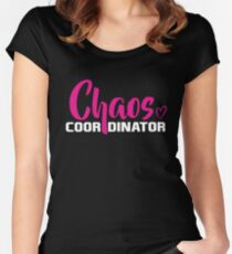 chaos coordinator Women's Fitted Scoop T-Shirt