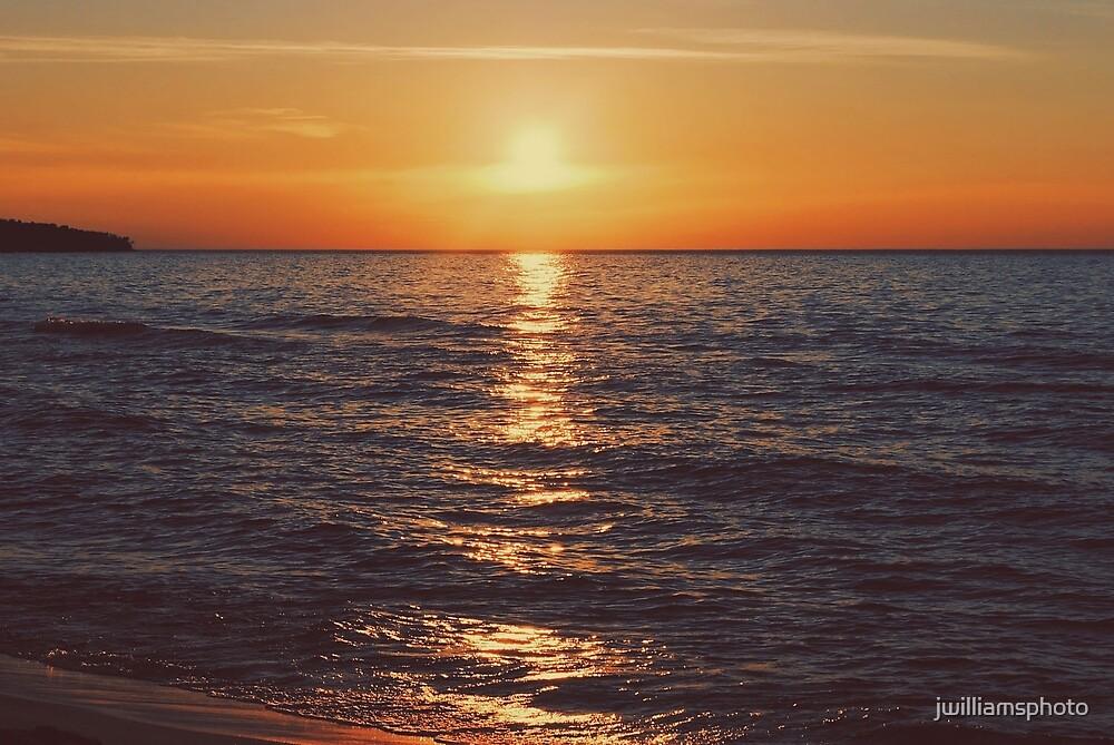 Sunset on Lake Michigan by jwilliamsphoto