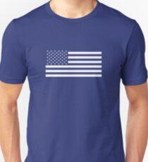 American Flag, White Stars Unisex T-Shirt