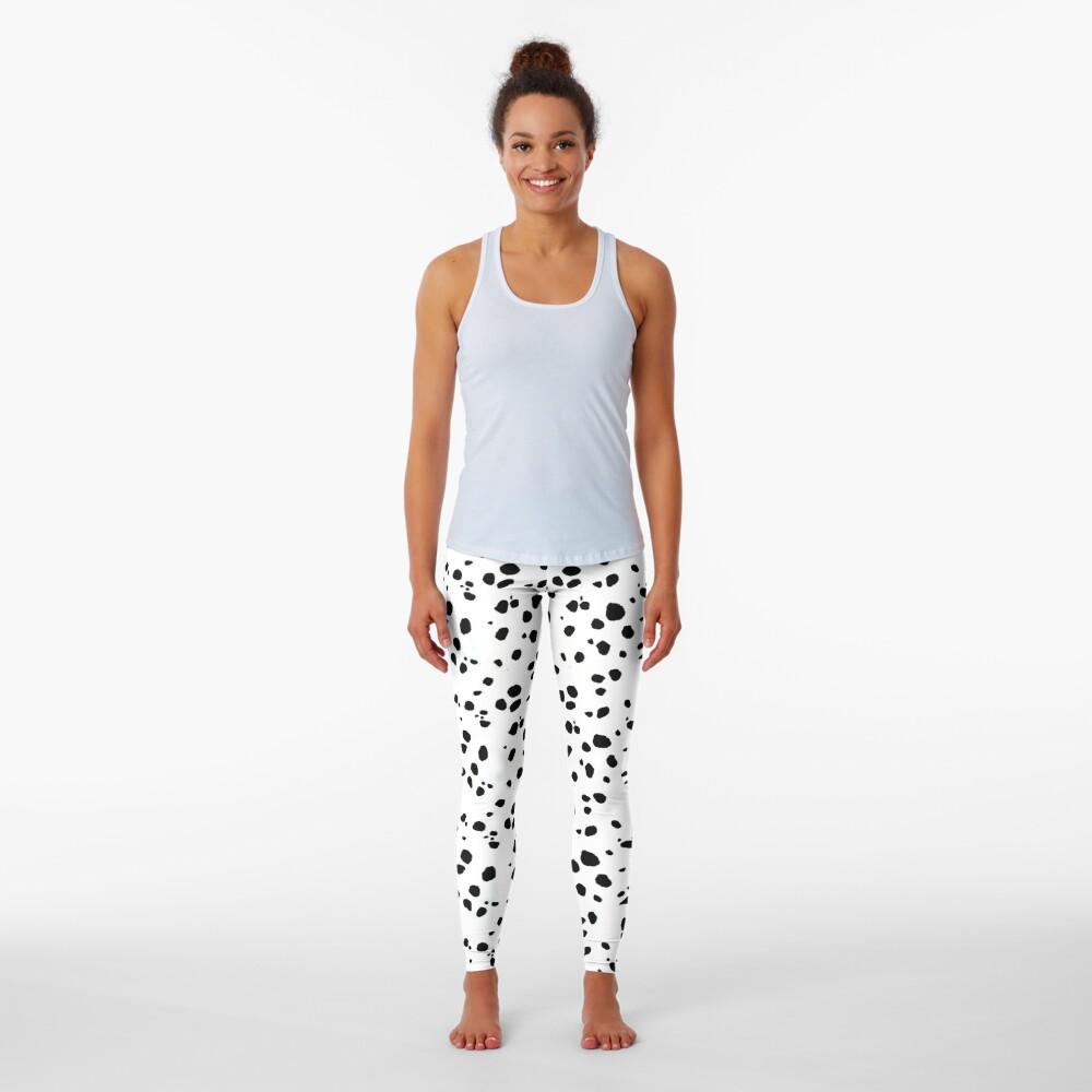 Cute Spots Dots Dalmatian Dog Print  Leggings