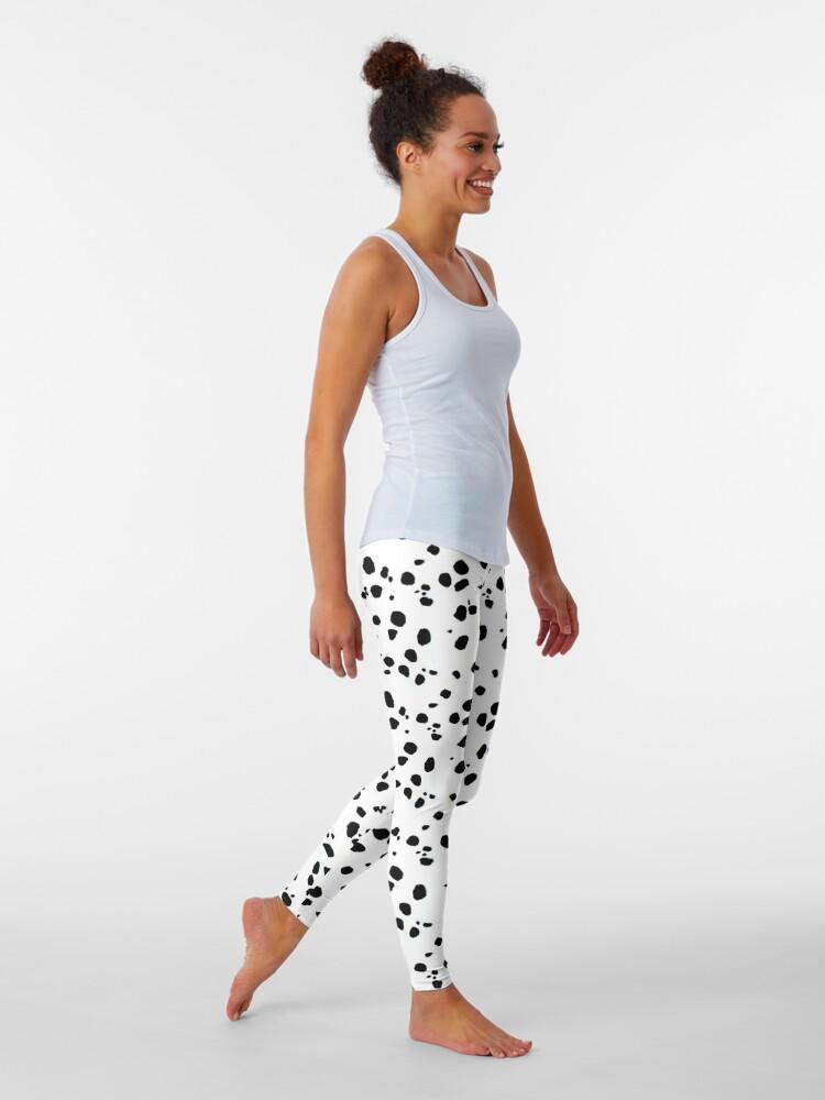Alternate view of Cute Spots Dots Dalmatian Dog Print  Leggings