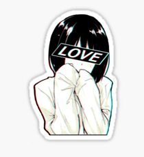 LOVE Sad Japanese Aesthetic  Sticker