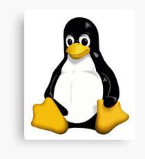 linux penguin cute Canvas Print